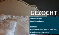 Gezocht Luxe B&B of Hotel-Garni